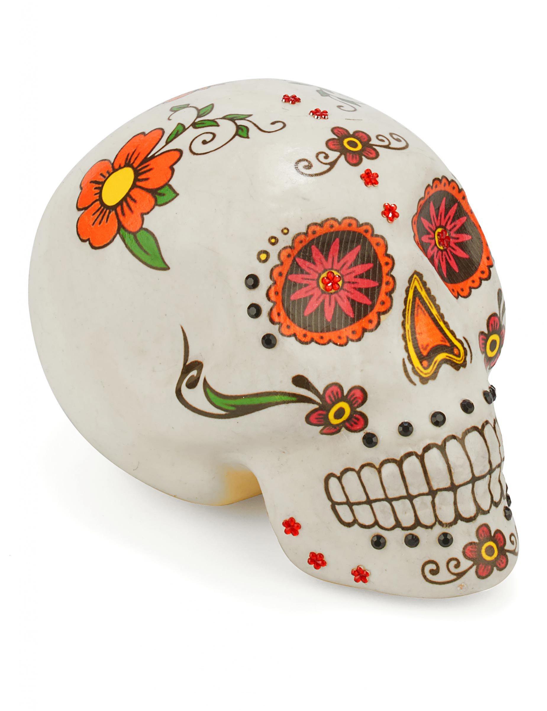 Kleurrijke dia de los muertos schedel decoratie decoratie for Decoratie schedel