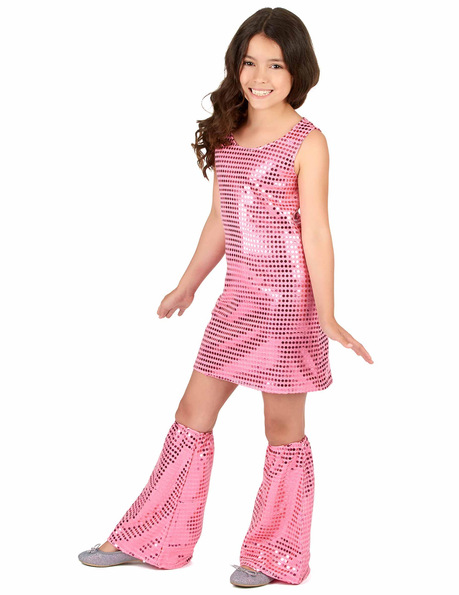 059b555e1ffdc8 Roze disco kostuum met lovertjes voor meisjes: Kinderkostuums,en ...