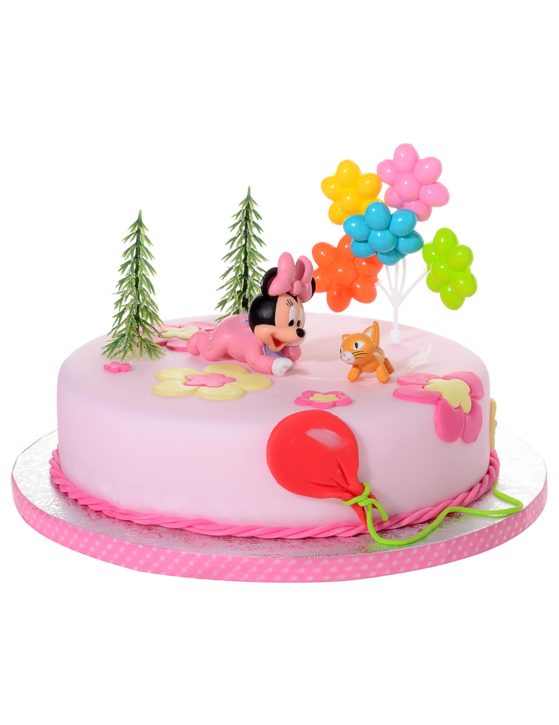 Onwijs Taart decoratie set baby Minnie Mouse™: Decoratie,en goedkope OI-86