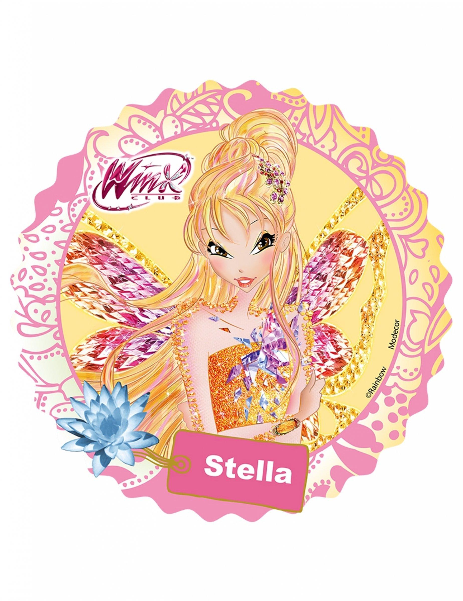 Eetbare Schijf Winx Stella Decoratieen Goedkope Carnavalskleding