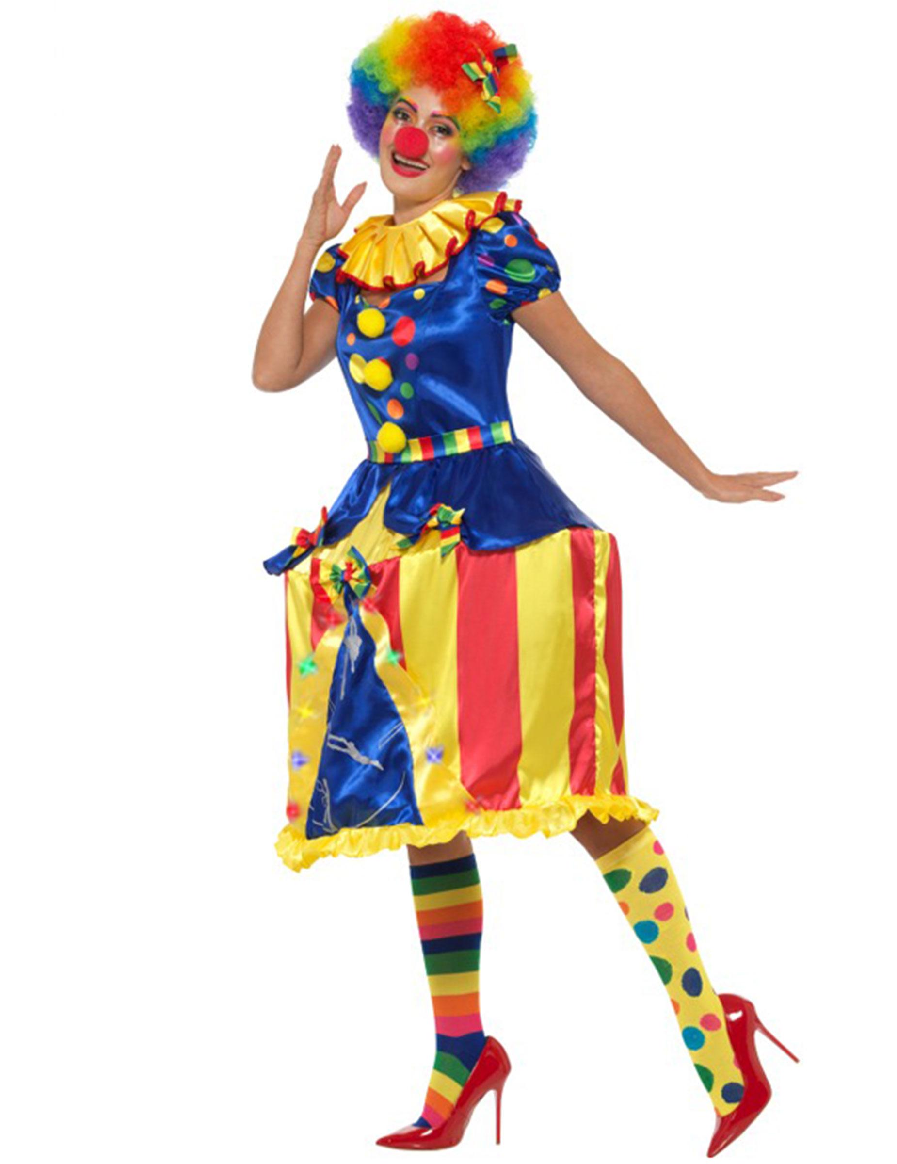 Carnavalskleding Dames Clown.Lichtgevende Draaimolen Clown Kostuum Voor Vrouwen Volwassenen
