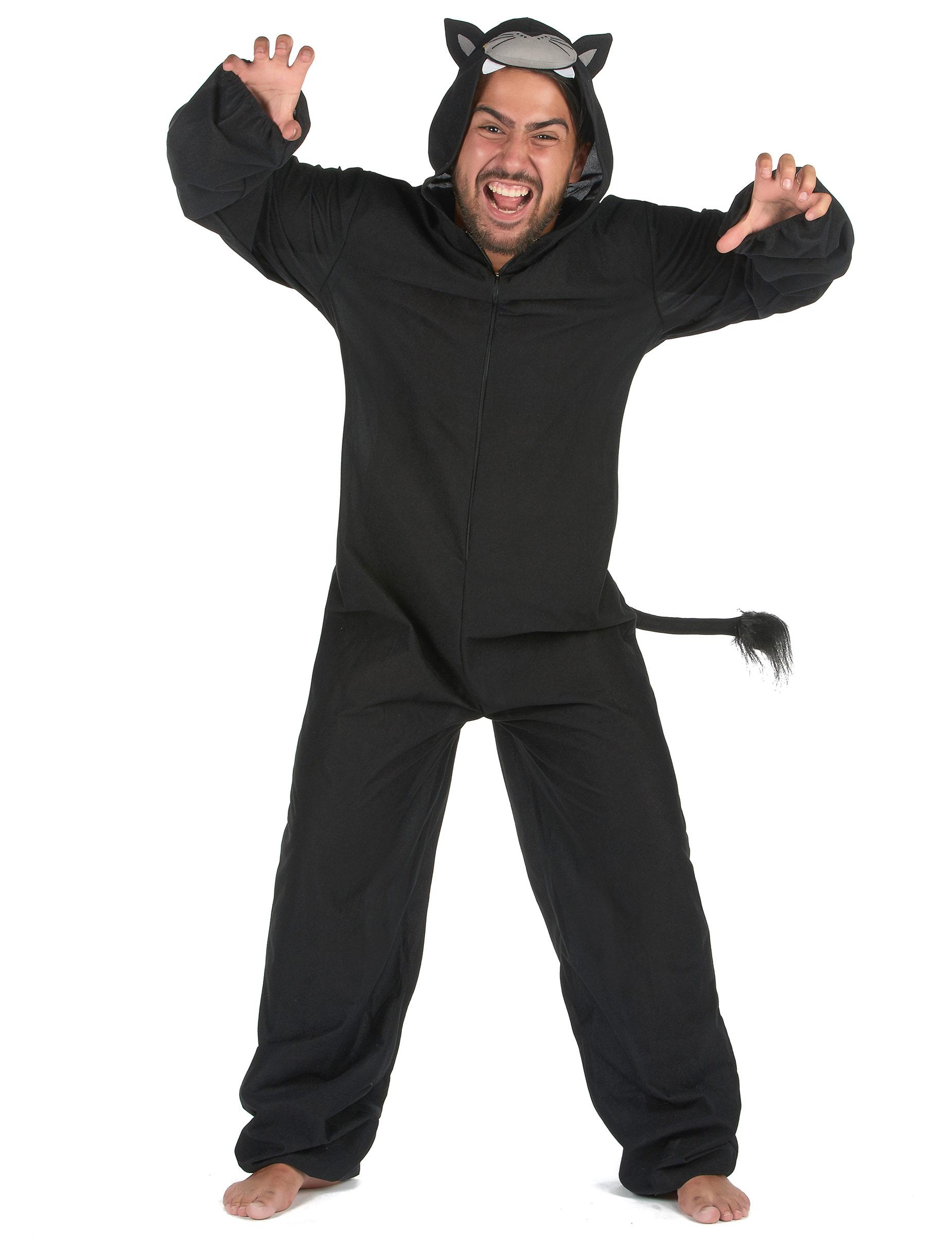 565d36d46db Zwart panter onesie kostuum voor mannen: Volwassenen kostuums,en ...