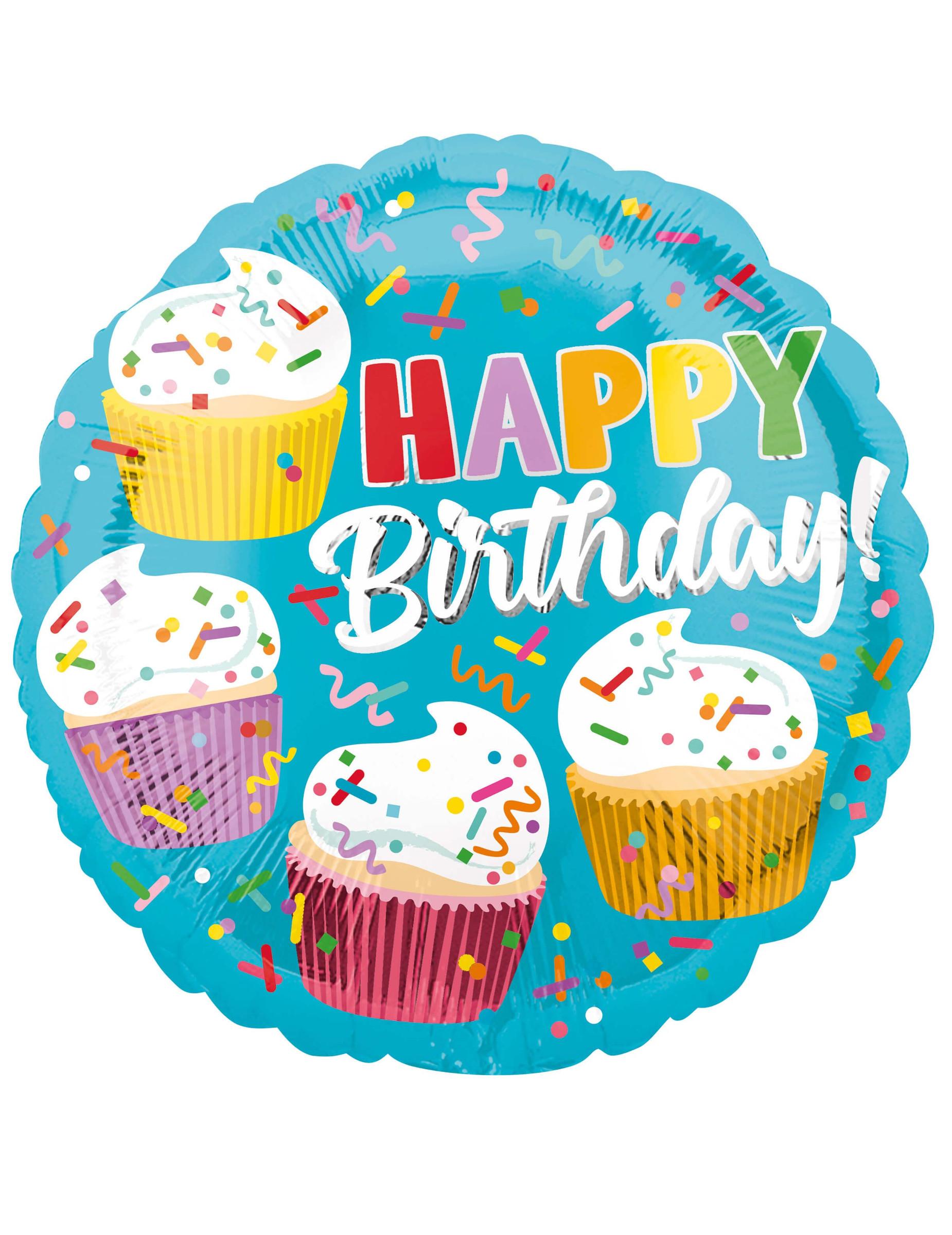 Miraculous Aluminium Happy Birthday Cupcakes Ballon Decoratie En Goedkope Funny Birthday Cards Online Inifofree Goldxyz