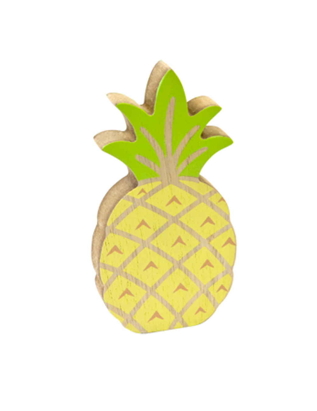 Gele En Groene Houten Ananas Decoratie Decoratie En Goedkope Carnavalskleding Vegaoo