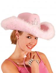 Roze cowgirlhoed voor dames