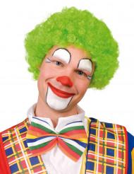 Fluogroene afro clownspruik voor volwassenen