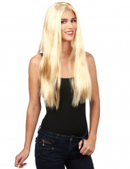 Blonde damespruik voor volwassenen
