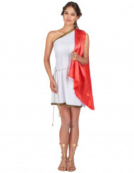 Kostuum van een Romeinse godin met cape voor dames
