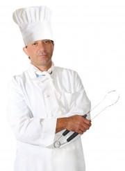 Witte klassieke koksmuts voor volwassenen