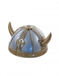 Blauw met gouden vikingshelm kinderen
