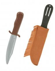 Indianen mes met hoesje