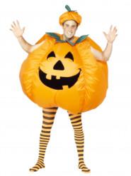 Opblaasbare pompoen outfit voor volwassenen