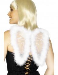 Witte pluizige engelen vleugels voor volwassenen