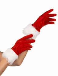 Kerstvrouwhandschoenen voor volwassenen