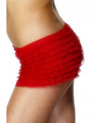 Rode shorty met kant voor dames