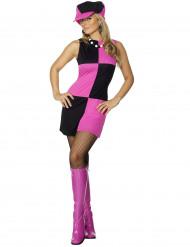 Roze discokostuum voor vrouwen