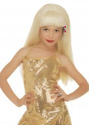 Blonde glamourpruik voor meisjes