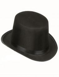 Klassieke zwarte hoge hoed voor volwassenen