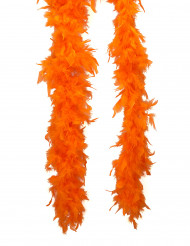 Oranje boa van veren