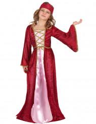 Middeleeuwse koninginnen kostuum voor meisjes