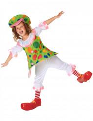 Clown kostuum met hoepel voor meisjes