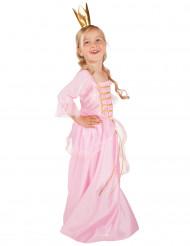 Goudkleurig en roze prinseskostuum voor kinderen