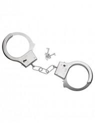 Metalen handboeien met sleutels