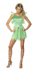 Sexy groene fee outfit met sluier voor vrouwen
