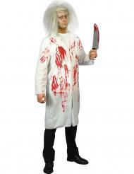 Bebloed dokterskostuum voor halloween voor mannen