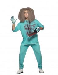 Gestoorde chirurg kostuum voor mannen