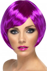 Korte paarse damespruik