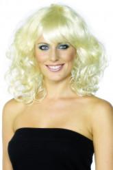 Blonde golvende pruik voor dames