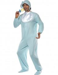 Pastelblauw babykostuum voor mannen