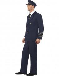 Blauw pilotenkostuum voor mannen