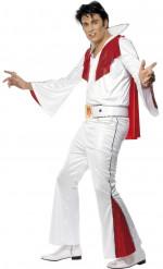 Wit en rood Elvis Presley™ kostuum voor mannen