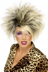 Wilde blonde pruik voor dames