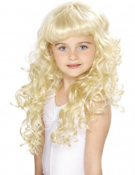 Blonde princesse pruik