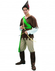 Bruine en groene Robin Hood outfit voor mannen