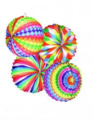 12 veelkleurige ronde lantaarns