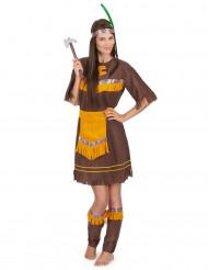 Bruine indianen kostuum voor vrouwen
