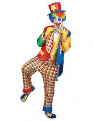 Kleurrijk clown kostuum voor mannen