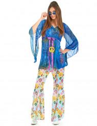Flower Power hippie kostuum voor dames
