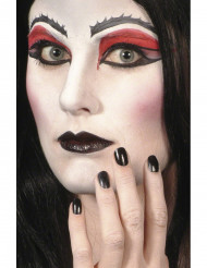 Zwarte make-up Halloween