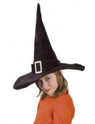 Heksenhoed met grote gesp voor kinderen
