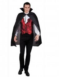 Zwarte vampieren cape met kraag voor volwassenen