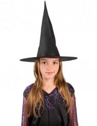 Spitse zwarte heksenhoed voor kinderen
