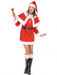 Traditioneel kerstvrouw kostuum voor dames