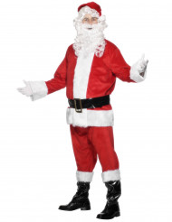 Wit en rood gekleurd kerstmankostuum voor mannen