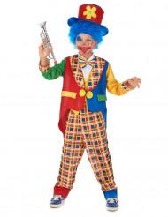 Geruit clown pak voor kinderen