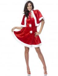 Sexy rood kerstvrouwpak met nepbont voor dames